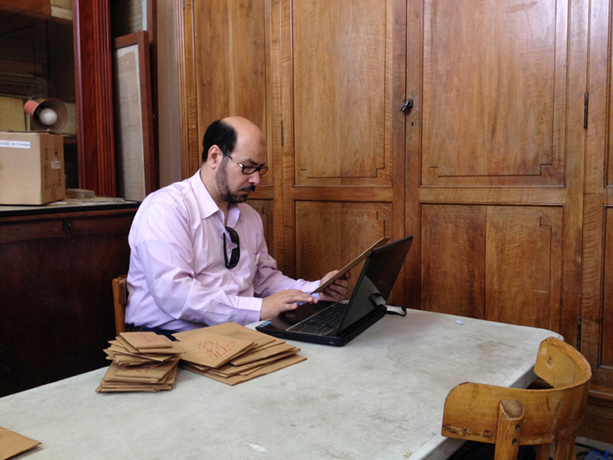 Assoc. Prof. Magdy, Director of Michigan Papyri Project
